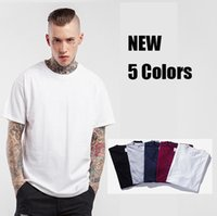 Wholesale Wholesale Clothes For Big Men - 2017 New Fashion T Shirt Men O-neck Tshirt Off White Casual T-shirt for Men Brand Clothing Big Size Shirts Tee
