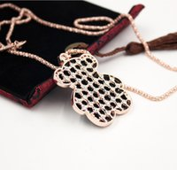 Wholesale bear necklaces for sale - Group buy Fashion Long Bear Clavicular Chain Necklaces Pendants Fashion Choker Women Necklace Jewelry Sweater Chain