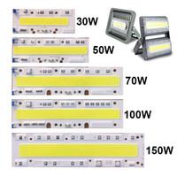 ic yongası açtı toptan satış-Sürücüsüz 30 W 50 W 70 W 100 W 150 W LED Işıklandırmalı COB Chip Beyaz, Entegre Akıllı IC Sürücü AC110V