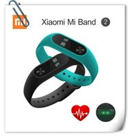Wholesale Monitor Vehicle - Original Xiaomi Mi Band 2 Miband Band2 Globle Edition Wristband Bracelet Smart HeartRate Monitor Fitness Tracker Touchpad OLEDStrap