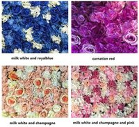 Wholesale Hawaii Flowers Free Shipping - Creative wedding stage props Silk rose tracery wall encryption floral background artificial flowers FREE SHIPPING WT048