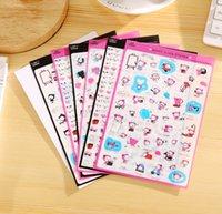 kawaii telefon çıkartmaları toptan satış-Toptan-6 adet Sevimli CATY'S hayat PVC Sticker DIY Scrapbooking Günlüğü Telefon Sticker Ürünleri Tasarım Paster çocuklar için hediye Kawaii Sabit
