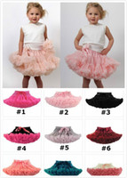 Wholesale Girls Floral Tutu Shorts Pettiskirt - 21 styles girl Christmas pettiskirt tutu short skirt tulle fluffy skirt satin ribbon bow princess lace pink costumes Holiday gift JC245