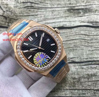 Wholesale Oval White Sapphire - Luxury High Quality Watch Classic (Wine red ) (White Dial)(Blue Dial )18k Rose Gold Nautilus 5726 Mechanical Transparent Automatic Mens Wat