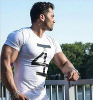 Wholesale Dry Meat - Big yards men's fitness in the summer of 2017 the new hot printing short sleeve T-shirt meat model body absorb sweat