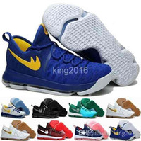 Wholesale Warrior Boots - Kevin Durant KD 9 Mens Basketball Shoes,Cool Grey Warriors Away White Blue Gold Home Blue Yellow Man Athletic Boots Sport Sneakers Trainers