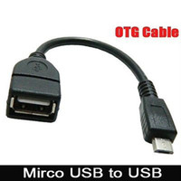 Wholesale Micro Usb Host - Micro USB Host Cable OTG 10cm 5pin mini usb cable for tablet pc mobile phone mp4 mp5 Smart Phone Free Shipping