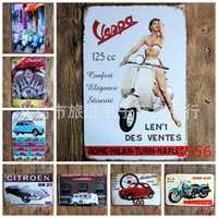 wholesale free car posters antique tin poster car motorcycle metal tin signs personality ornaments iron