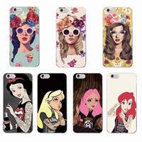 kızlar iphone cases 5s 5c toptan satış-Serin Kraliçe Boyama Dövmeli Kız Telefon Kılıfı için iPhone 6 6 Artı 6 s 6 7 7 Artı 5 5 s SE 5c 4 4 s
