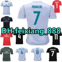 Wholesale 17 Top Quality Real madrid soccer Jerseys Uniforms RONALDO Home Away JAMES BALE RAMOS ISCO MODRIC Football Shirts