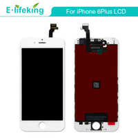 Wholesale Iphone Digitizer Pcs - 10 PCS LCD Display Touch Digitizer Complete Screen For iPhone 6 Plus 5.5 LCD Assembly Replacement with Free Shipping