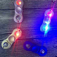 Wholesale Dhl Lantern - 2017 Hand Spinners LED Lanterns Fidget Spinners Magic Hand Spinner Lightning Spinning Top bearing rotation Decompression Finger Toy Gift DHL