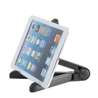 универсальная подставка для планшета оптовых-Универсальный гибкий регулируемый складной стенд держатель портативный планшет кронштейн штатив Колыбель для iPhone Samsung iPad Mini Tablet PC стенд