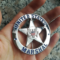 Wholesale 2017 New Arrival Militaire Medailles American Metal Badge Souvenirs United States Marshal Us Marshals Badge Bronze