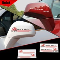 Wholesale Buick Mirrors - Car Styling Buick Regal Rearview Mirror Rear Mirror PVC Sticker 15cm Universal Black & White Silver for buick Regal