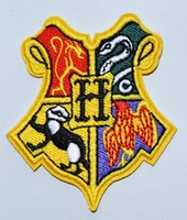 Wholesale Iron Harry Potter Patch - Harry Potter HOGWARTS Gryffindor Hufflepuff Ravenclaw Slytherin Iron On Patches, sew on patch,Appliques, Made of Cloth,100% Quality
