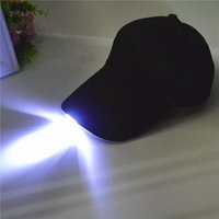 Wholesale Led Light Up Hats - Glow In Dark Light Up LED Hat Hip-hop Luminous Caps New Fashion Baseball Caps Christmas Halloween Party Hat Accessories Unisex
