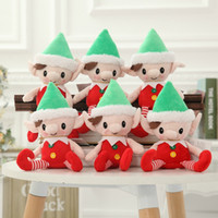 Wholesale Wholesale Fabric Gift Boxes - Christmas Elf doll Stuffed elf Arts and Crafts Elves Christmas decorate Kids Christmas Gift 30cm Free Shipping