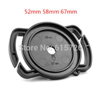 Wholesale Lens Cap Buckle - Wholesale-Camera Lens Cap keeper 52mm 58mm 67mm Universal Lens Cap Camera Buckle Lens Cap Holder Keeper Free shipping