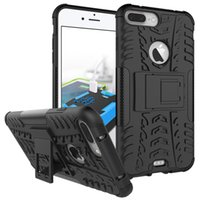 Wholesale Heavy Bag Cover - Heavy Duty Armor Case Back Cover With Kickstand For iPhone X 8 7 6 plus Samsung Galaxy S8 Note 8 Plus Lenovo phab 2 plus Opp bag