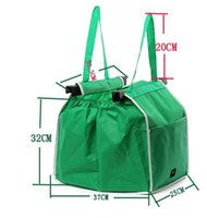 Grab Bag Trolley Bolsas de compra Clip Para Carrito Large Capacity Grocery Shopping Bag Eco-friendly Reutilizable Plegable Tote Bolsas de almacenamiento Buena