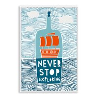 Wholesale Motivational Wall - all pictures Cartoon Fish Ocean Motivational Typography Quotes Mediterranean Art Print Poster Nautical Wall Picture Canvas Painting Home ...