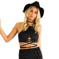 689b5fd3cf COLROVIE Sexy Halter Backless Summer Style Women Camisole New Arrival 2017  Girls Casual Crop Tops Ladies Black Lingerie