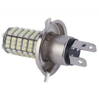 Wholesale Car Lights H4 - 1PCS 12V LED 1210 120 SMD H4 White Head Fog Lamps Super Bright Car Tail Brake Signal Parking Light 6000K Free Shipping