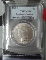 Wholesale Pcgs Box - HOT SELLING PCGS 1928-S MS64 On e Dollar Peace Dollar coin FREE SHIPPING