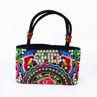 Wholesale National Handicraft - Chinese nationality embroidery bag, girl bag, tourist souvenir, national characteristic handicraft gift, overseas gift