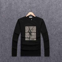 Wholesale Mens Striped Long Sleeve Shirts - 2017 New Luxury Brand Mens T Shirt Summer Shirt US British French Style long Sleeves tshirt Hommes Chemise # YSL8717