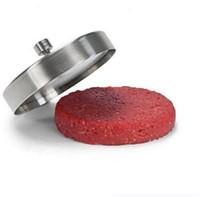 hamburger presleri toptan satış-Paslanmaz Çelik Hamburger Börekler Maker Burger Basın Et Pie Kalıp Mutfak Yemek Bar Pişirme Araçları Mutfak Alüminyum Alaşım Pir ...