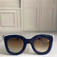 Wholesale Butterfly French - New luxury French luxury brand sunglasses CE simple and generous style plate frame anti-UV lens 6 color to choose with original box