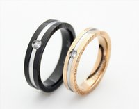 Wholesale Endless Love Rings - stainless steel endless love couple rings mix color mix band size wholesale