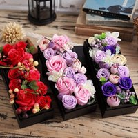 Wholesale Pink Flower Gift Box - Valentine's day gifts, essential oil soap flower bouquets of soap box creative home furnishing articles