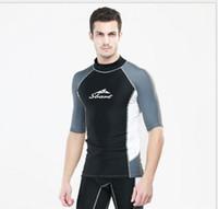 Wholesale Mens Beach Shirt Xl - Dropshipping Mens Swimwear Surf Shirts and Shorts Scuba Diving Suits Windsurf Two-Piece Separates Wetsuits Beach Sports Short Rashguards
