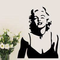 marilyn monroe wandmalerei großhandel-Marilyn Monroe Wandtattoo Abnehmbare Aufkleber Dekor Vinyl Wandtattoo Dekoration Home Decor Wandbild DIY