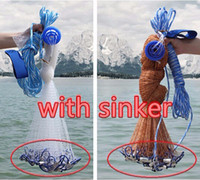 outdoor networks - merican style cast net M hand throw fishing net with sinker and without sinker outdoor sport fishing network tool