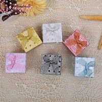 Atacado Multi cores Square Shape Jewelry Box Ring Box Earrings Box Embalagem Gift Presente titular