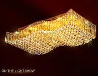 Wholesale Modern Simple Designed Chandelier - Free shipping rectangular crystal chandelier light fixture simple ceiling chandelier lights LED light source design for room LLFA