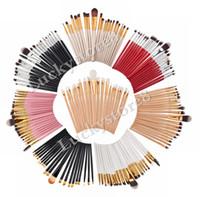 Wholesale Makeup Brush 18 - Make up brushes 20pcs eye shadow brushes 18 colors Superior Soft pincel kabuki kit set Cosmetics maquiagem makeup brushes DHL free shipping