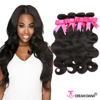 Wholesale Hair Extensions European Weave - Human Hair Extensions Peruvian Body Wave Hair Weaves 4 Bundles Human Hair Bundles Natural Color Top Quality