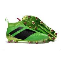 Wholesale leather fashion football shoes for sale - 2017 Fashion ACE PureControl FG Slip On Discount High Quality Men s Soccer Shoes Boots Men Cleats Football Shoes Sneakers