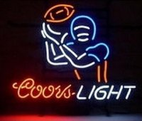Coors Light Calcio Soocer Calcio Neon Sign Realizzato a mano Real Glass Beer Bar KTV Motel Pub Club Display cinematografico Neon Signs 24