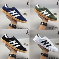 Wholesale Round Bar Sizes - New arrival Orihinals Hamburg Man Casual Shoes Three bars Flat Sneakers Lace-up Low Men Zapatillas Runner Walking Shoes size 40-45