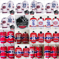 Wholesale Montreal Price - 100th Classic 2018 Montreal Canadiens 31 Carey Price 6 Shea Weber 92 Jonathan Drouin 27 Alex Galchenyuk 67 Pacioretty 100% Stitched Jerseys
