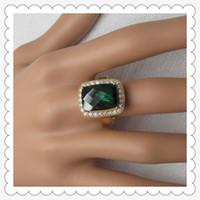 gelbe smaragdringe großhandel-Kostenloser Versand 18K Solid Yellow Gold 0.70ct Naturdiamant Smaragd geschnitten 10X14mm behandelt Emerald Semi-Mount Ring (R0178)