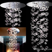 Wholesale murano glass lamps - Bubble Ball Pendant Lamp Murano Due Bubble Glass Chandelier Suspension 4PCS GU10 Light Custom Size Transparent modern crystal ceiling light