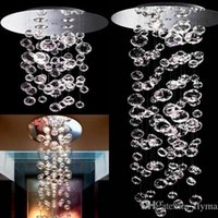ingrosso luci a soffitto di vetro a bolle-Sfera della bolla lampada a sospensione Murano Due Bubble Glass Chandelier Suspension Dimensioni 4PCS GU10 della luce su ordinazione di cristallo moderno trasparente plafoniera