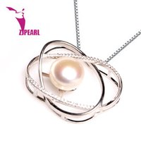 Wholesale Coin Freshwater Pearl Necklaces Jewelry - Fashion Jewelry Pendants ZJPEARL fashion design Natural Pearl Pendant ,100% Freshwater Pearl,Pendant necklace with 925 Silver,gift for women